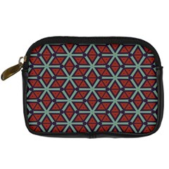 Cubes Pattern Abstract Design Digital Camera Leather Case by LalyLauraFLM
