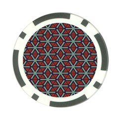 Cubes Pattern Abstract Design Poker Chip Card Guard (10 Pack) by LalyLauraFLM