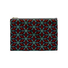 Cubes Pattern Abstract Design Cosmetic Bag (medium) by LalyLauraFLM