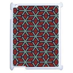 Cubes Pattern Abstract Design Apple Ipad 2 Case (white) by LalyLauraFLM