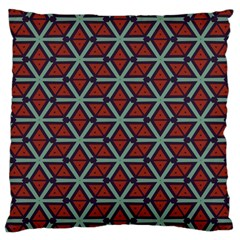 Cubes Pattern Abstract Design Large Cushion Case (two Sides) by LalyLauraFLM