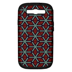 Cubes Pattern Abstract Design Samsung Galaxy S Iii Hardshell Case (pc+silicone) by LalyLauraFLM