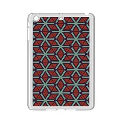 Cubes Pattern Abstract Design Apple Ipad Mini 2 Case (white) by LalyLauraFLM
