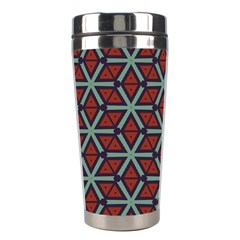 Cubes pattern abstract design Stainless Steel Travel Tumbler by LalyLauraFLM