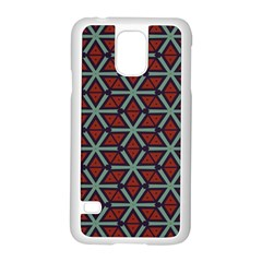 Cubes Pattern Abstract Design Samsung Galaxy S5 Case (white) by LalyLauraFLM