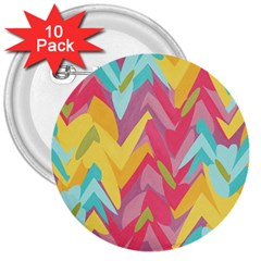 Paint strokes abstract design 3  Button (10 pack) by LalyLauraFLM
