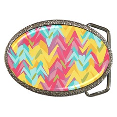 Paint Strokes Abstract Design Belt Buckle by LalyLauraFLM
