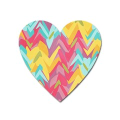 Paint Strokes Abstract Design Magnet (heart) by LalyLauraFLM