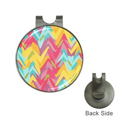 Paint Strokes Abstract Design Golf Ball Marker Hat Clip by LalyLauraFLM