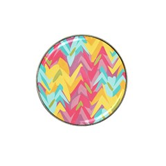 Paint Strokes Abstract Design Hat Clip Ball Marker (4 Pack)