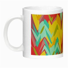 Paint Strokes Abstract Design Night Luminous Mug by LalyLauraFLM