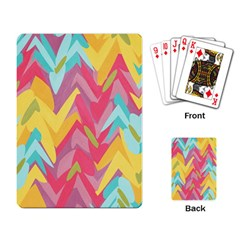Paint Strokes Abstract Design Playing Cards Single Design by LalyLauraFLM