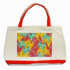 Paint strokes abstract design Classic Tote Bag (Red) by LalyLauraFLM