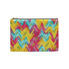 Paint Strokes Abstract Design Cosmetic Bag (medium) by LalyLauraFLM