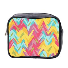 Paint Strokes Abstract Design Mini Toiletries Bag (two Sides) by LalyLauraFLM