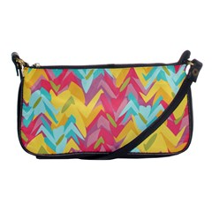 Paint Strokes Abstract Design Shoulder Clutch Bag by LalyLauraFLM