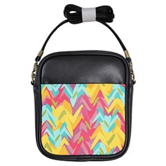 Paint Strokes Abstract Design Girls Sling Bag by LalyLauraFLM