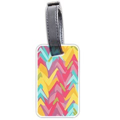 Paint Strokes Abstract Design Luggage Tag (two Sides) by LalyLauraFLM