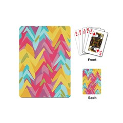 Paint Strokes Abstract Design Playing Cards (mini) by LalyLauraFLM