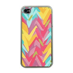 Paint Strokes Abstract Design Apple Iphone 4 Case (clear) by LalyLauraFLM