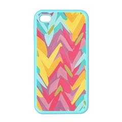 Paint Strokes Abstract Design Apple Iphone 4 Case (color) by LalyLauraFLM