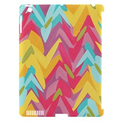 Paint Strokes Abstract Design Apple Ipad 3/4 Hardshell Case (compatible With Smart Cover) by LalyLauraFLM