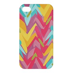 Paint Strokes Abstract Design Apple Iphone 4/4s Premium Hardshell Case by LalyLauraFLM