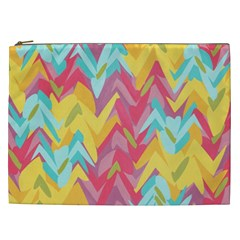 Paint Strokes Abstract Design Cosmetic Bag (xxl) by LalyLauraFLM