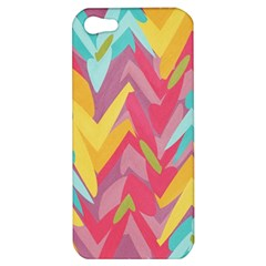 Paint Strokes Abstract Design Apple Iphone 5 Hardshell Case by LalyLauraFLM