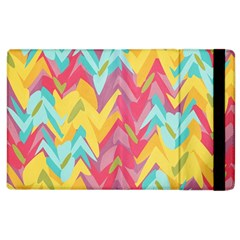 Paint Strokes Abstract Design Apple Ipad 3/4 Flip Case by LalyLauraFLM