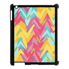 Paint Strokes Abstract Design Apple Ipad 3/4 Case (black) by LalyLauraFLM