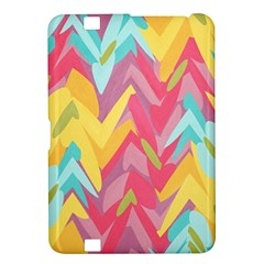 Paint Strokes Abstract Design Kindle Fire Hd 8 9  Hardshell Case by LalyLauraFLM