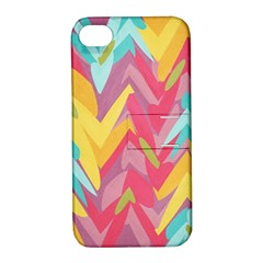Paint Strokes Abstract Design Apple Iphone 4/4s Hardshell Case With Stand by LalyLauraFLM