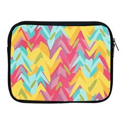 Paint Strokes Abstract Design Apple Ipad 2/3/4 Zipper Case by LalyLauraFLM