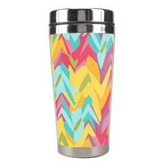 Paint Strokes Abstract Design Stainless Steel Travel Tumbler by LalyLauraFLM