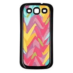 Paint Strokes Abstract Design Samsung Galaxy S3 Back Case (black) by LalyLauraFLM