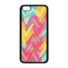 Paint Strokes Abstract Design Apple Iphone 5c Seamless Case (black) by LalyLauraFLM
