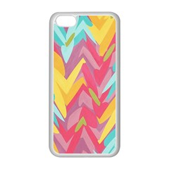 Paint Strokes Abstract Design Apple Iphone 5c Seamless Case (white) by LalyLauraFLM