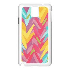 Paint Strokes Abstract Design Samsung Galaxy Note 3 N9005 Case (white) by LalyLauraFLM