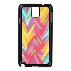 Paint Strokes Abstract Design Samsung Galaxy Note 3 N9005 Case (black) by LalyLauraFLM