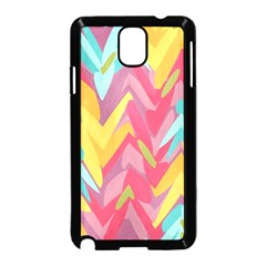 Paint Strokes Abstract Design Samsung Galaxy Note 3 Neo Hardshell Case (black) by LalyLauraFLM