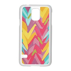 Paint Strokes Abstract Design Samsung Galaxy S5 Case (white) by LalyLauraFLM