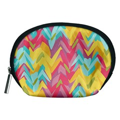 Paint Strokes Abstract Design Accessory Pouch (medium) by LalyLauraFLM