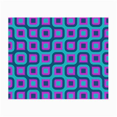 Blue Purple Squares Pattern Glasses Cloth (small) by LalyLauraFLM