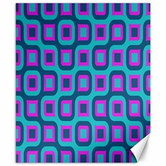 Blue Purple Squares Pattern Canvas 8  X 10  by LalyLauraFLM