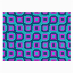 Blue Purple Squares Pattern Glasses Cloth (large, Two Sides) by LalyLauraFLM