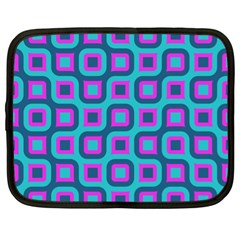Blue Purple Squares Pattern Netbook Case (xl) by LalyLauraFLM