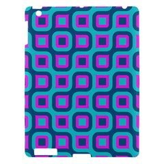 Blue Purple Squares Pattern Apple Ipad 3/4 Hardshell Case by LalyLauraFLM