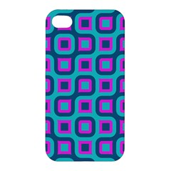 Blue Purple Squares Pattern Apple Iphone 4/4s Premium Hardshell Case by LalyLauraFLM