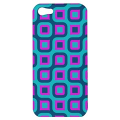 Blue Purple Squares Pattern Apple Iphone 5 Hardshell Case by LalyLauraFLM